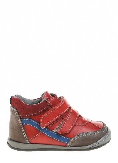 Kifidis Hakiki Deri İlk Adım Ayakkabı Kırmızı